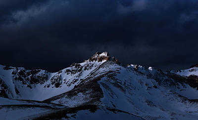 Dusk At Loveland Pass Art Print