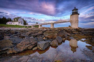 Photograph - Dusk At Marshall Point by Rick Berk