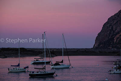 Photograph - Dusk At Morro Bay 8b5203 by Stephen Parker