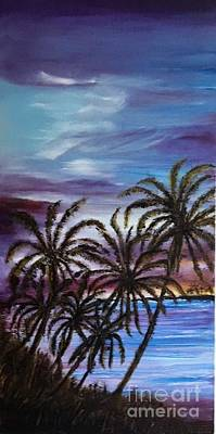 Dusk At Palm Beach  Original