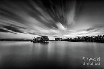 Photograph - Dusk At Redcar Tarn Bw by Mariusz Talarek
