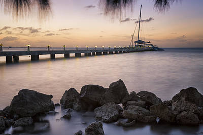 Sailboat Photograph - Dusk At Rum Point Grand Cayman by Adam Romanowicz