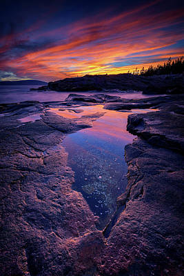 Photograph - Dusk At Schoodic Point by Rick Berk