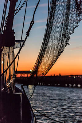 Photograph - Dusk At Shem Creek Pier In Mt. Pleasant, Sc by Donnie Whitaker