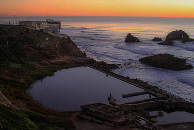 Photograph - Dusk At Sutro Baths by Bonnie Follett