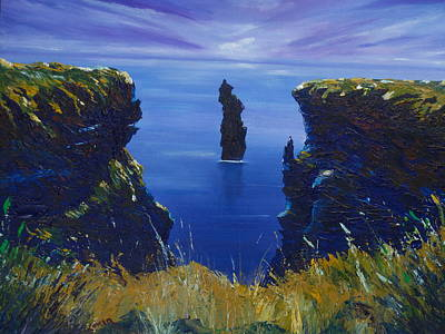 Painting - Dusk At The Devils Castle by Conor Murphy