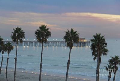 Photograph - Dusk At The Pier by Suzanne Oesterling