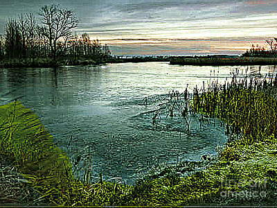Photograph - Dusk At The Pond by Merton Allen