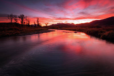 Photograph - Dusk At The Provo River by Johnny Adolphson