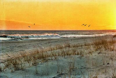 Photograph - Dusk At The Shore by Cathy Kovarik