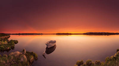 Photograph - Dusk By The Lake by Sigurdur William Brynjarsson