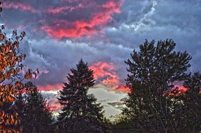 Concord Photograph - Dusk Cloudscape by Bob LaForce