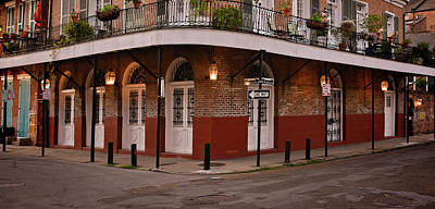 Photograph - Dusk - Corner Of Barracks And Chartres Streets - French Quarter by Greg Jackson