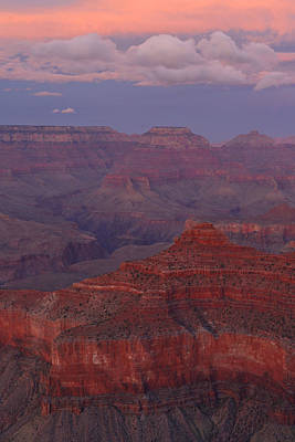 Art Print featuring the photograph Dusk From Mather Point by Stephen  Vecchiotti