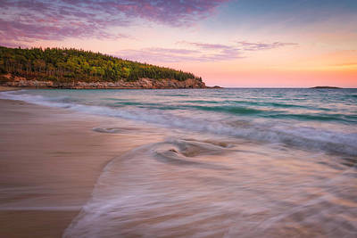 Photograph - Dusk Glow At Sand Beach by Kim Carpentier