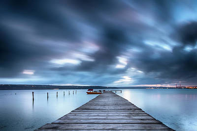 Photograph - Dusk In Blue Satin by Evgeni Dinev