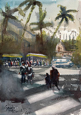 Painting - Dusk In Goa  by Gaston McKenzie