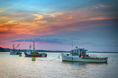 Photograph - Dusk In Lubec Harbor by Rick Berk
