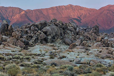 Photograph - Dusk In The Alabama Hills by Stuart Gordon