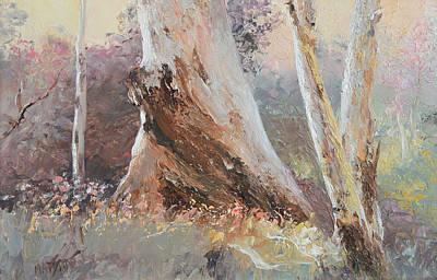 Australian Painting - Dusk In The Bush by Jan Matson