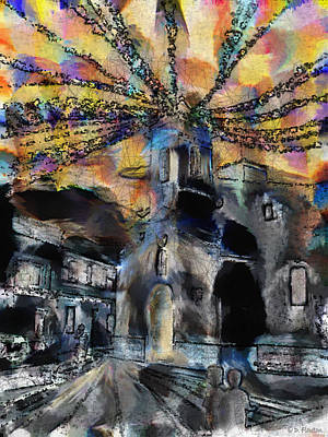 Photograph - Dusk In The Church Square by Dee Flouton