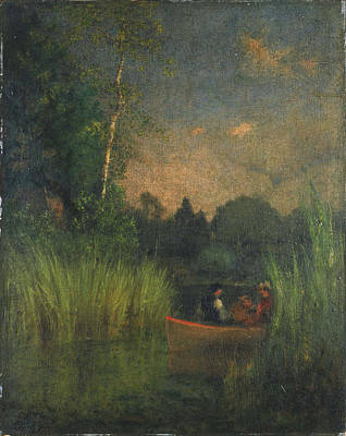Painting - Dusk In The Rushes. Alexandria Bay by George Inness