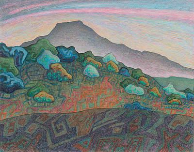 The Shins Drawing - Dusk In The Valley Of The Shining Stone by Dale Beckman