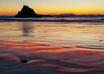 Photograph - Dusk Indian Beach by Robert Potts
