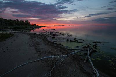 Photograph - Dusk Lake Thompson by Aaron J Groen