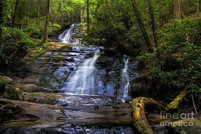 Photograph - Dusk Light At Flat Branch Falls by Barbara Bowen