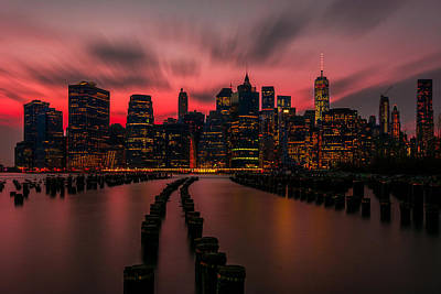 Dusk Manhattan Art Print by RC Pics