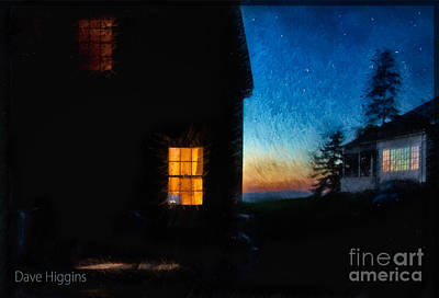 Digital Art - Dusk, Monhegan Island, Maine by Dave Higgins