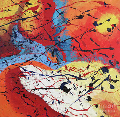 Caribbean Abstract Painting - Dusk by Nickola McCoy-Snell