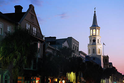 Photograph - Dusk On Charleston by James Kirkikis