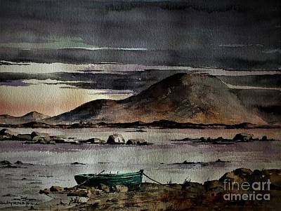 Painting - F 809  Dusk On Nephin, Cullen, Mayo by Val Byrne