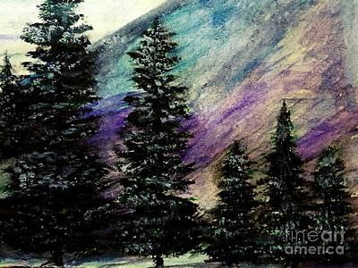 Dusk On Purple Mountain Art Print