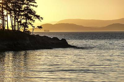 Dusk On Sucia Island Art Print