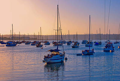 Dusk On The Bay Art Print by Claude LeTien