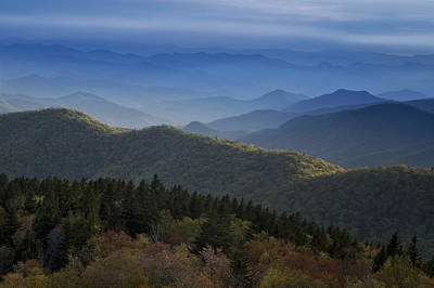 Solitude Photograph - Dusk On The Blue Ridge Parkway by Andrew Soundarajan