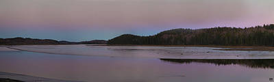 Photograph - Dusk On The Machias River by John Meader