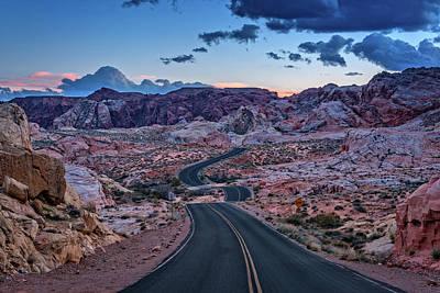 Desert Dome Photograph - Dusk On The Open Road by Rick Berk