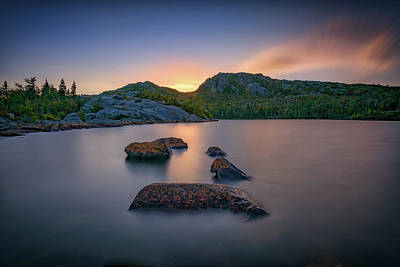 Photograph - Dusk On Tumbledown Mountain by Rick Berk