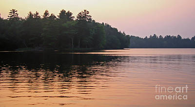Photograph - Dusk On Wilderness Lake by Kevin McCarthy