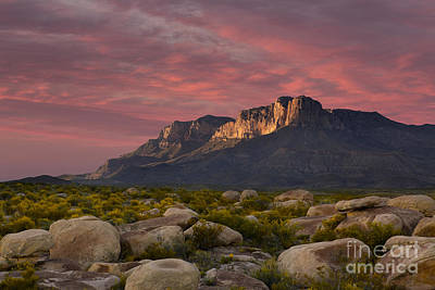 Photograph - Dusk Over El Capitan Guadalupe Peak by Keith Kapple