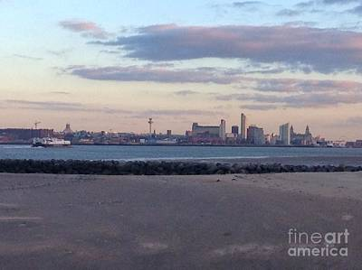 Photograph - Dusk Over Liverpool's Skyline by Joan-Violet Stretch