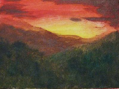 Dusk Over Smokey Original by Trilby Cole