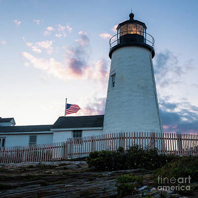 Photograph - Dusk, Pemaquid Lighthouse, Bristol, Maine #60384 by John Bald