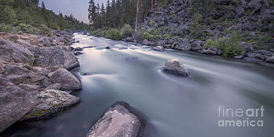 Deschutes River Photograph - Dusk Rapids by Twenty Two North Photography