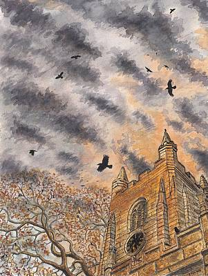Dusk Roost At St Mary's Art Print by Philip Harvey