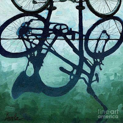 Painting - Dusk Shadows - Bicycle Art by Linda Apple